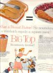 1957 Big Top Peanut Butter Glass Ad Goblet