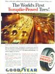 1957 Goodyear Tire Ad Harbor Freeway La Ca