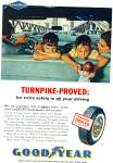 1961 Goodyear Tire Ad Kids In Car No Seatbelt
