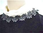 Romantic 1960's Goth Velvet Satin Mini Dress