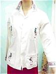 Boho Vintage White Embroidered Peasant Shirt