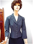 Ladies Grey Suit Jacket Nice Buttons