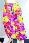 Vintage Tropical Print Wrap Around Skirt