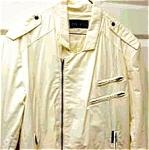 Man's Vintage 1960's Ivory Zippered Jacket