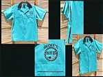 Turquoise Hilton Bowling Shirt