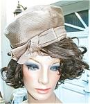 Vintage 1960's Beige Hat