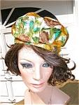 Fun Satin Print 1960's Hat