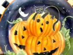 Oneida Haunted Hollow Halloween Plate New Black Cat