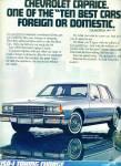 1983 - Chevrolet Caprice Auto Ad