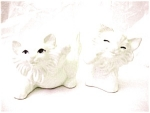 Pair Of Playful Ceramic Cats