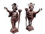 Pair Antique Bronze Blackamoor Sculptures Superb Detail