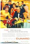 Cunard Lines Ad 1958
