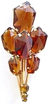 Honey Topaz Glass Bouquet Brooch Austria Rhinestones