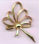 Pell Ribbon Bow Brooch
