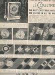 Le Coultre Watches Ad 1953