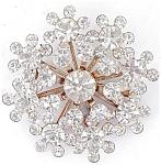 Sparkliest Clear Snowflake Rhinestones Brooch