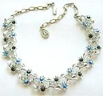 Pakula Gorgeous Blue Rhinestones Necklace