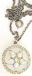 Aurora Borealis Faux Pearls Pendant Necklace