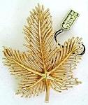 Mint Trifari Leaf Brooch With Hang Tag