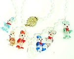 Funny Fun Glass Beads Animals Necklace