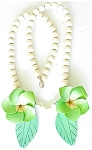 Fun And Funky Colorful Wood Flowers Necklace