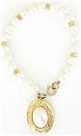 Faux Pearls Bracelet With Faux Pearl Locket
