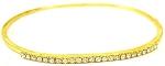 Simple Elegant Row Of Rhinestones Bangle Bracelet