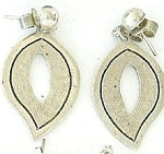 Curved Teardop Sterling Earrings