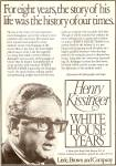 Henry Kissinger - White House Years Book 1979 Ad
