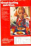 1973 Kellogg's Product 19 Cereal Ad Model Eat