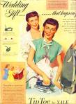 1948 - Tip Toe By Yale Irons Ad Woman Artwork