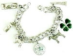 Danecraft Sterling Charm Bracelet With 7 Charms
