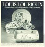 1977 Louis Lourioux Dinnerware Ad Pattern Elisabeth