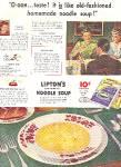 Vintage 1943 Lipton's Continental Noodle Soup