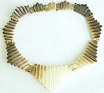 Glowing Handcrafted Fluted Shell Sectional Necklace