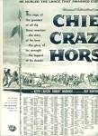 Chief Crazy Horse Movie Ad - 1955