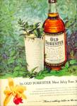 Old Forester Whiskey Ad Mint Julep Art