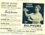 1897 Sumphume Sulpher Water Ad Rheumatism ++