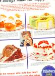Pillsbury Cake Mixes (White Cake) Ad 1956