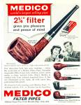 1964 Medico Filter Pipes Ad Cool Pipe Models