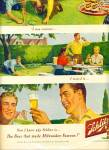 1950 Schlitz Beer Ad Curious Horseshoe Theme