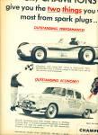 1955 Champion Plug Ad Bob Sweikert Indy 500