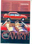 Toyota Camry Automobile For 1983 Ad