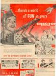 1960 Boy Scout Gilbert Erector Toy Set Ad