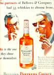 1953 Bellows Partners Whiskey Ad Partner Men