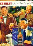 1951 Schenley Whiskey Ad Dick Haynes + Singer