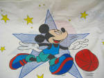Vintage Mickey Mouse Basketball Star Pillowcase
