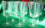 Crystal With Silver Rim Wine Glass's, Dorothy Thorpe Style (6)