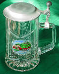 Etched Stein Glass Mug, Kalimunz/nabtal German Town Decal