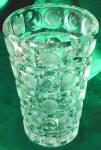 Crystal Glass Vase, Bulls Eye Design